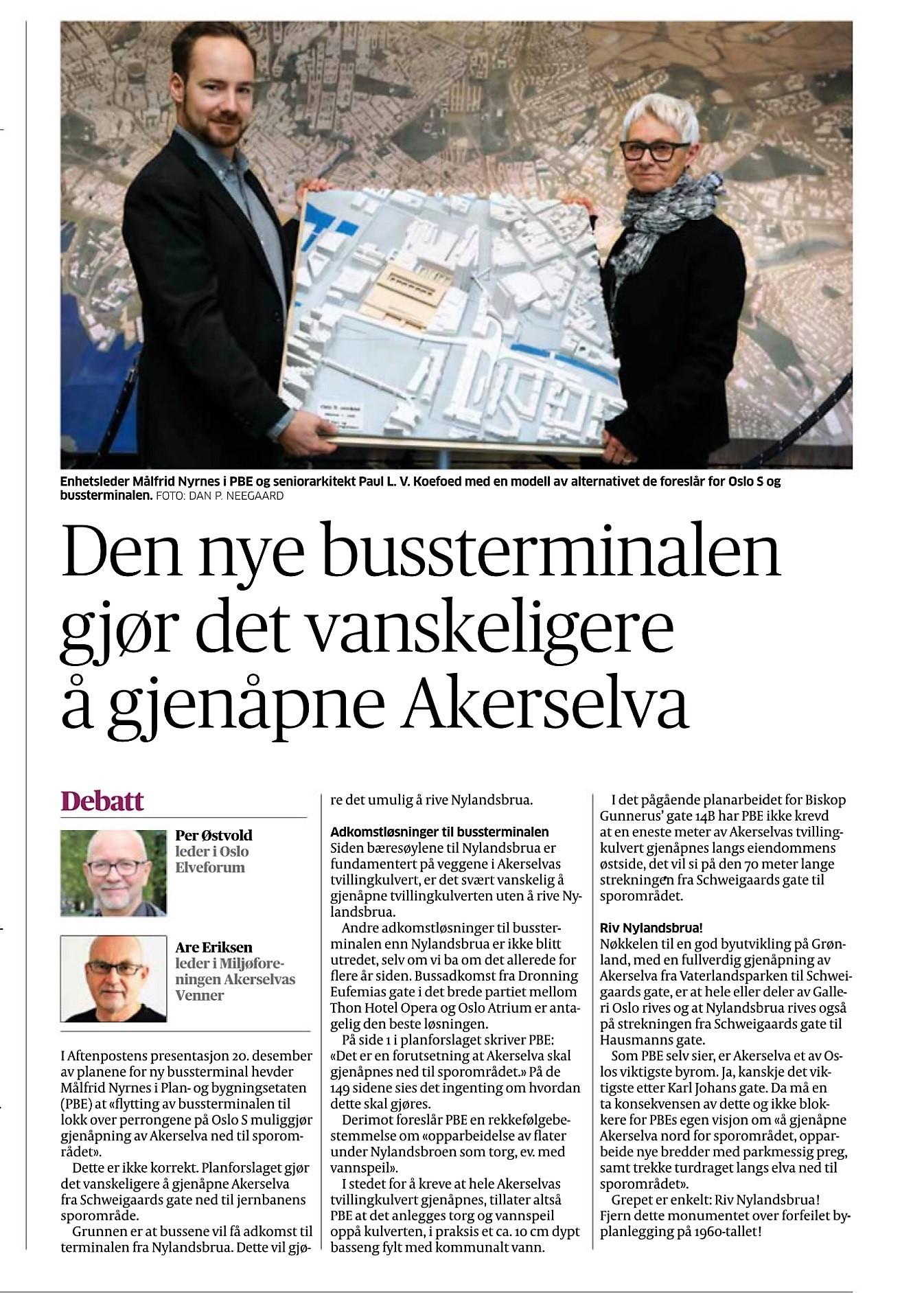 Artikkel i Aftenposten 5.1.2018