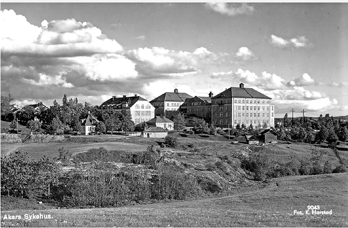 Torshovbekken med Aker sykehus